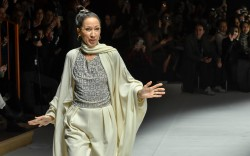 Pat Cleveland on the catwalkLaura Biagiotti