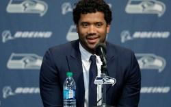 Seattle Seahawks quarterback Russell Wilson talks