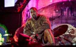 Kanye West performs with Kid Cudi