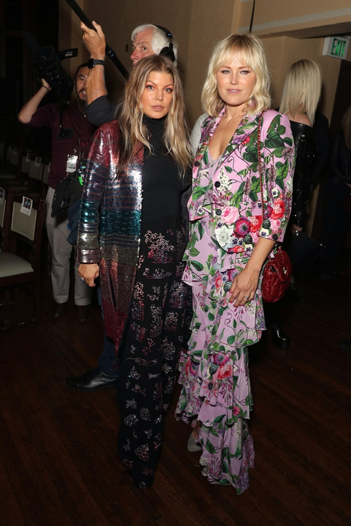 Fergie and Malin AkermanLibertine show, Front Row, Fall Winter 2019, The Ebell, Los Angeles, USA - 26 Apr 2019