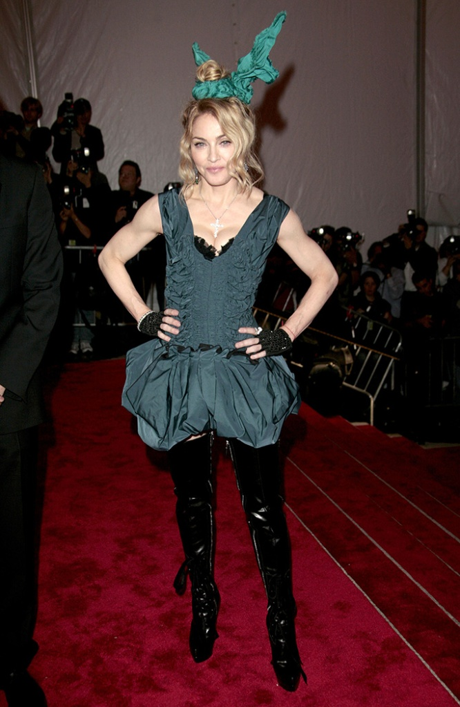 Madonna'The Model as Muse: Embodying Fashion' Benefit Gala at the Metropolitan Museum of Art Costume Institute, New York, America - 04 May 2009With a theme of 'Model As Muse', the biggest event in the US fashion industry calendar was sponsored by Marc Jacobs who was the star guest of the evening and was accompanied by his fiancé and model Lorenzo Martone.Marc Jacobs dressed Kate Moss and Helena Christensen while Louis Vuitton kitted out Madonna and Kerry Washington.Meanwhile Calvin Klein's Francisco Costa's work was modelled by Halle Berry and Chanel legend Karl Lagerfeld did what he does best with actresses Audrey Tautou and Diane Kruger.Gisele Bundchen paraded an outfit by John Galliano while Jessica Alba went down the Michelle Obama trail and looked stunning in a Jason Wu gown.In past years, the Met Costume Institute shows have been organized around famous designers such as Chanel and Gianni Versace and have drawn significant crowds to the Met. The Costume Institute's annual Benefit Gala, co-chaired by Vogue editor-in-chief Anna Wintour, is probably the most prestigious and exclusive event in the fashion world