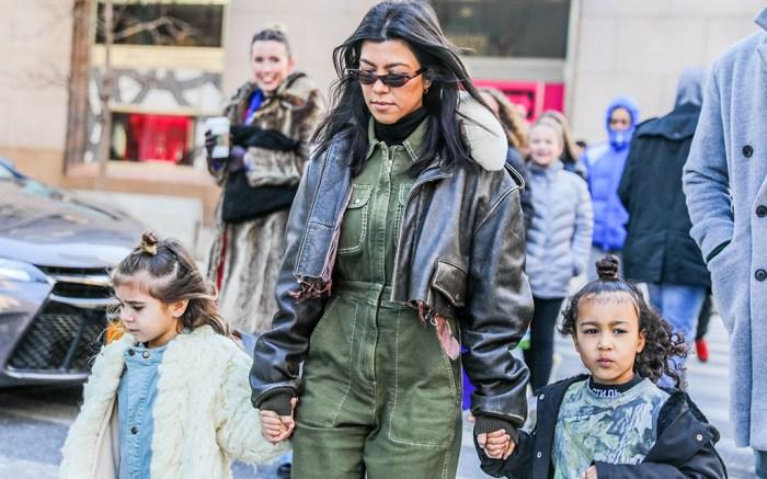 Kourtney Kardashian, Penelope Disick and North WestKourtney Kardashian out and about, New York, USA - 03 Feb 2018