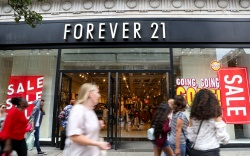 Summer sales in Forever 21 store