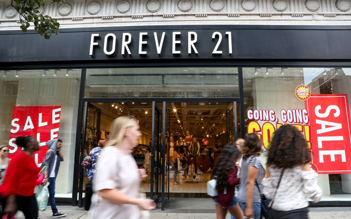 Summer sales in Forever 21 store on Oxford Street in London's west endSummer sales on Oxford Street, London, UK - 04 Jul 2018