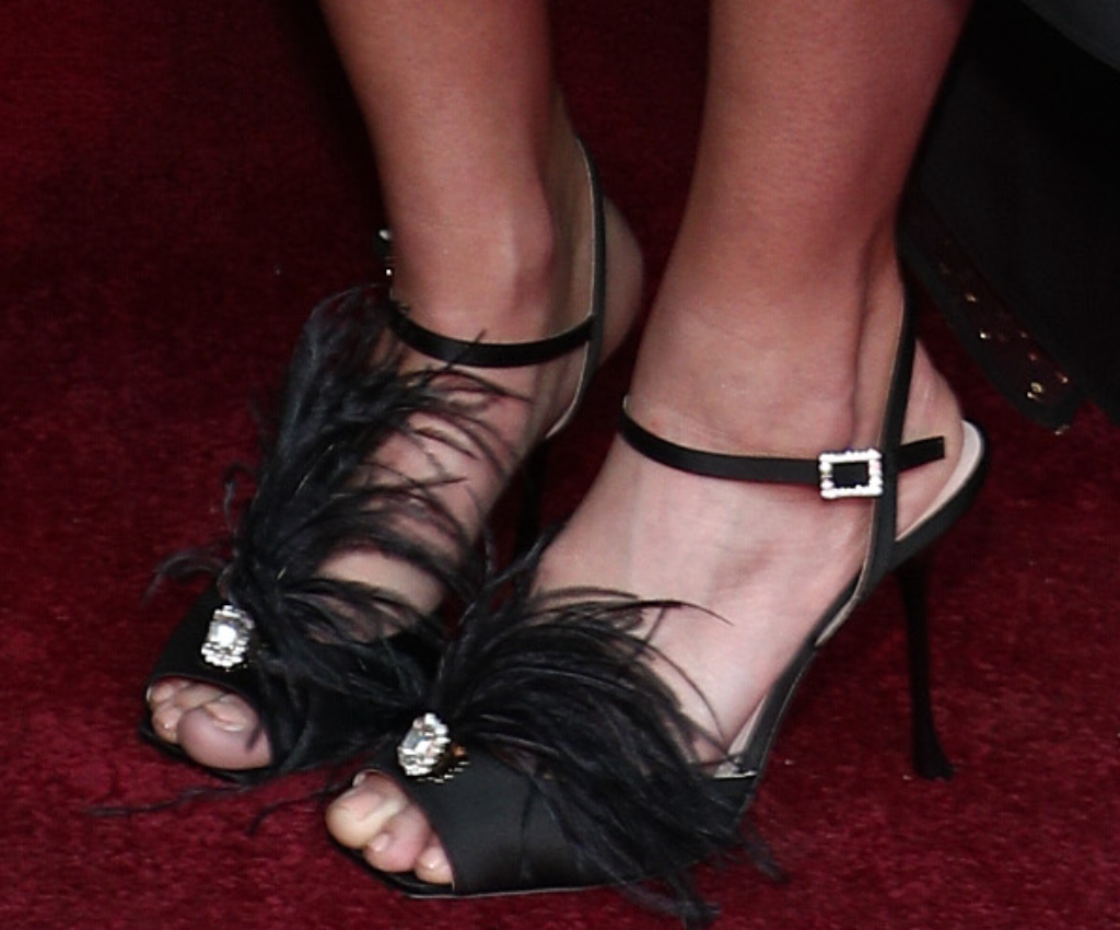 mandy moore, roger vivier sandals