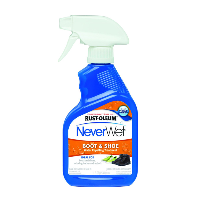 Rust-Oleum NeverWet boot and shoe spray.
