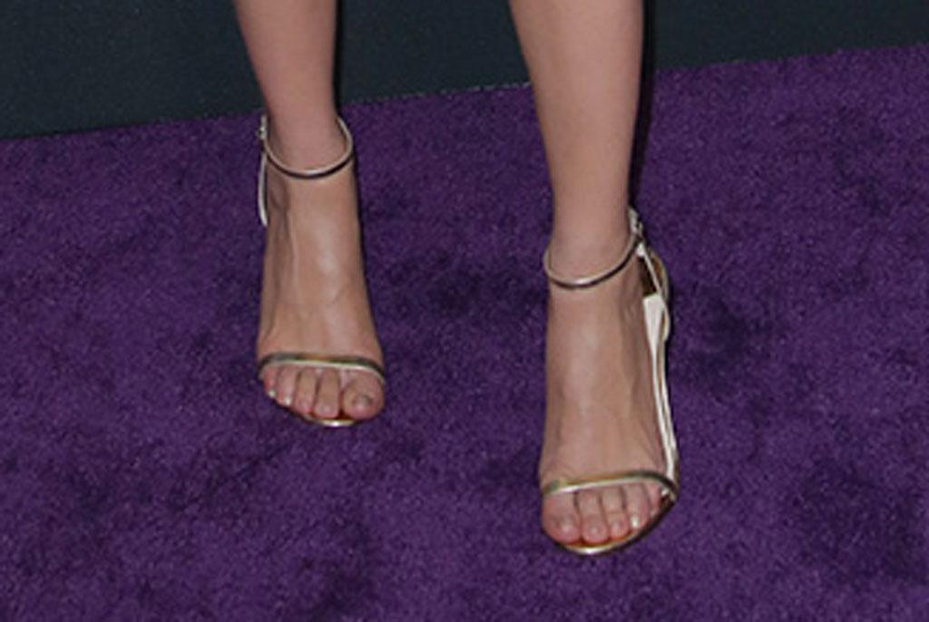 Scarlett Johansson', Avengers: Endgame' Film Premiere, Arrivals, LA Convention Center, Los Angeles, USA - 22 Apr 2019Wearing Versace, glittery dress, leggy red carpet outfit, black widow, metallic sandals