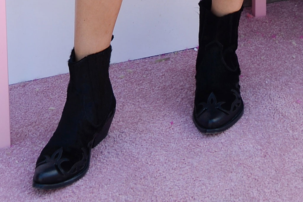 western boots, shay mitchell, celebrity style, coachella, booties