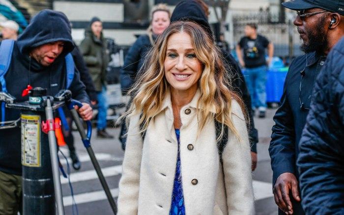 Sarah Jessica Parker, 'Divorce' on set filming, New York, USA - 11 Mar 2019 Sarah Jessica Parker