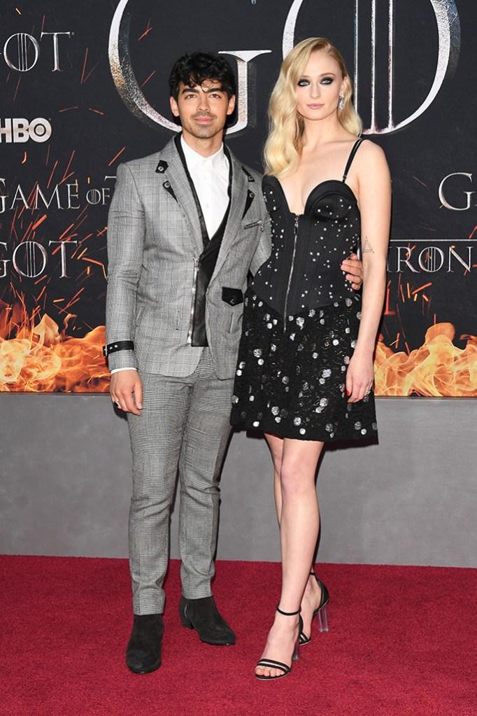 Joe Jonas and Sophie Turner'Game of Thrones' season eight premiere, Arrivals, New York, USA - 03 Apr 2019, balmain, louis vuitton, red carpet, celebrity style
