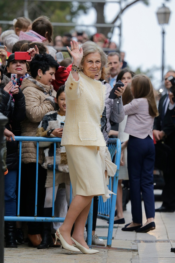 Former Queen Sofia of SpainSpanish Royal Family attend mass, Madrid, Spain - 21 Apr 2019