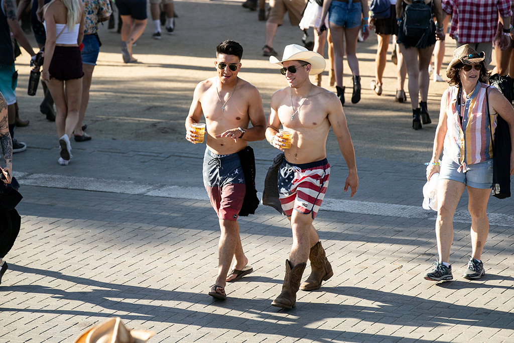 Attendees walk from stage to stage during the Stagecoach Festival 2019 in Indio near Palm Springs, California, USA, 26 April 2019. The country music festival runs from 26 to 28 April 2019.Stagecoach Festival 2019 in Indio, USA - 26 Apr 2019