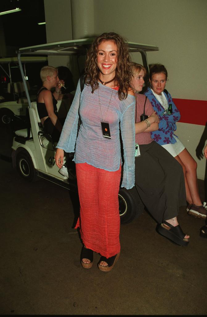Alyssa Milano, Platform Sandals, 90s