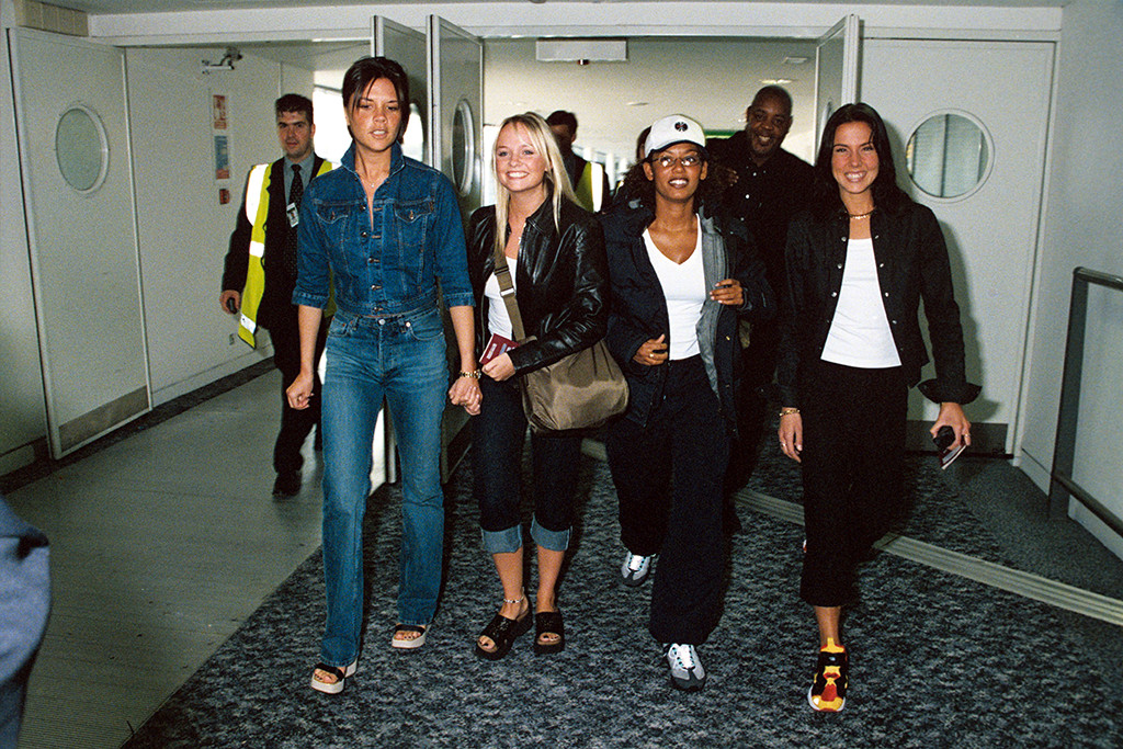 The Spice Girls, platform sandals, 90s,