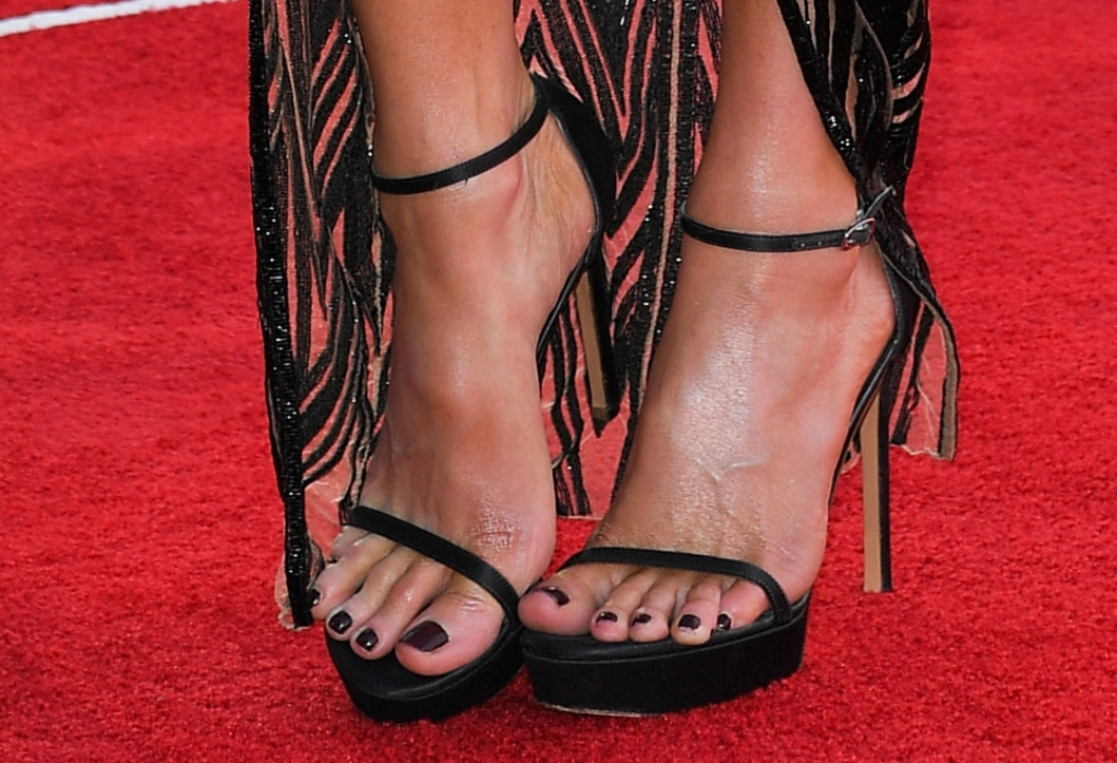 stuart weitzman Nudist Disco platforms, kate beckinsale feet