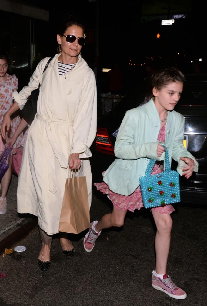 Katie Holmes and Suri Cruise, suri cruise 13th birthday celebration