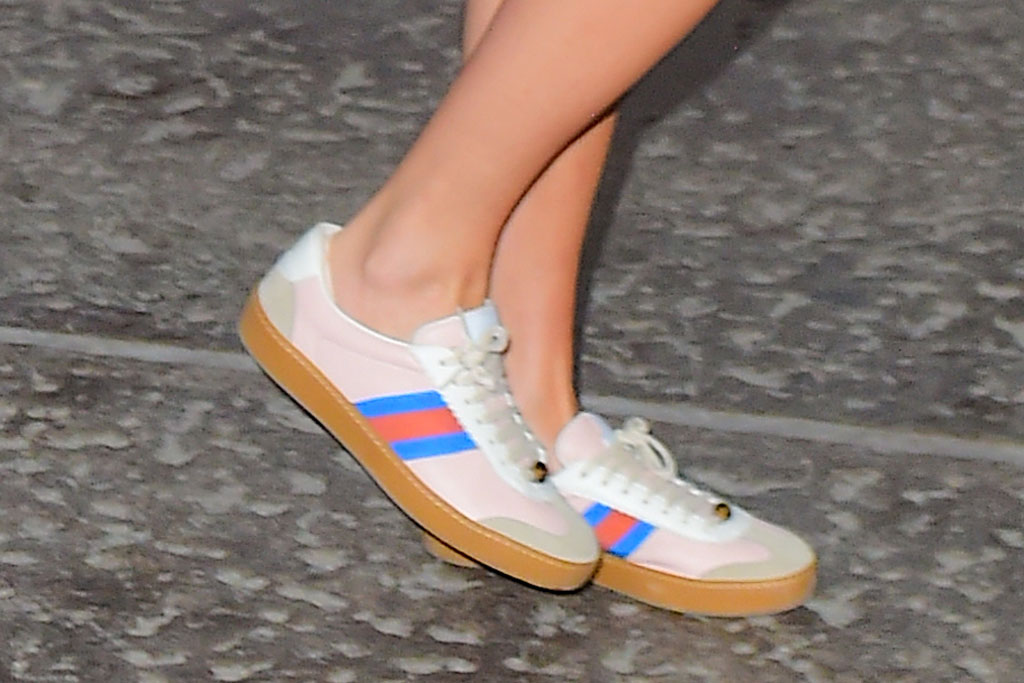 Taylor Swift, Gucci sneakers, celebrity style, retro shoes, street style, new york city