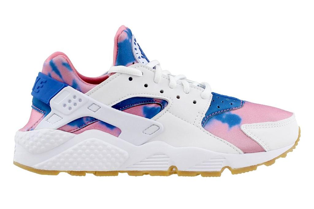 Nike Womens Air Huarache Sneaker, tie dye shoe, spring 2019 trends, festival style