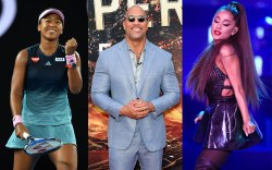 (L-R): Naomi Osaka, Dwayne Johnson and