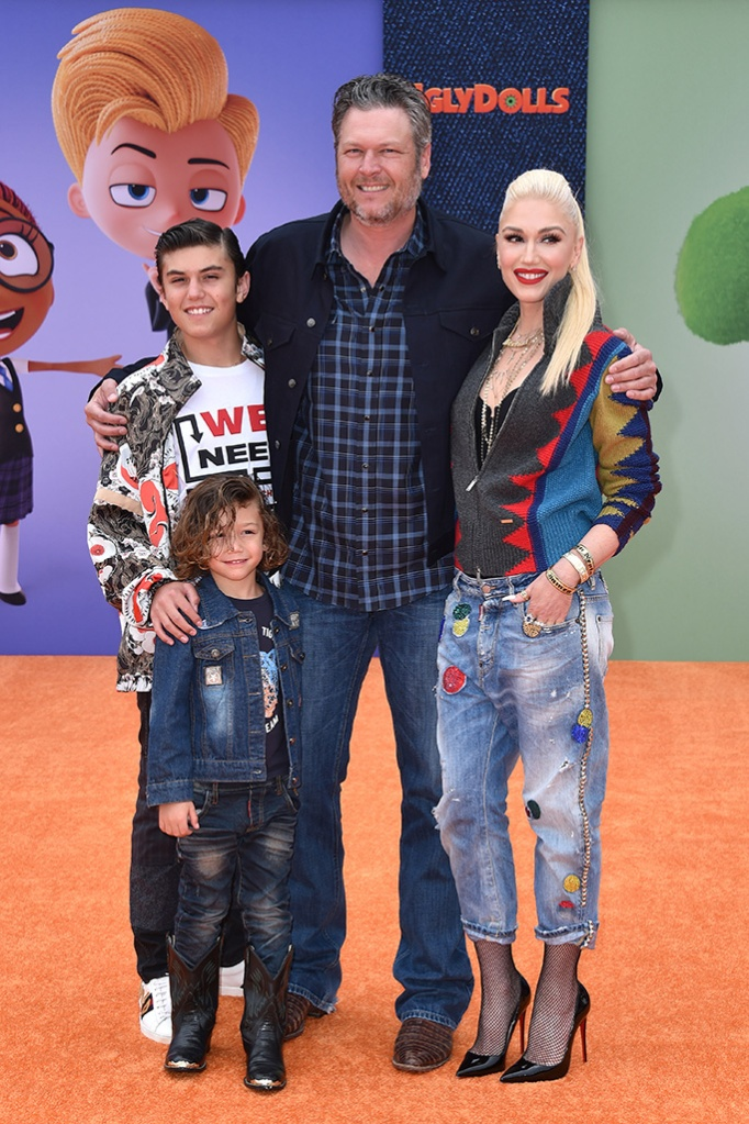 Kingston Rossdale, Apollo Rossdale, Blake Shelton and Gwen Stefani'UglyDolls' film premiere, Arrivals, Regal Cinemas, Los Angles, USA - 27 Apr 2019