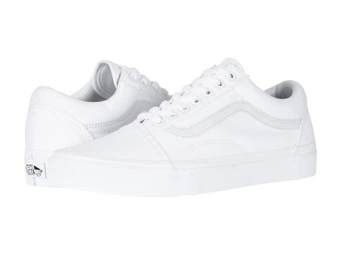 vans old skool white, best white sneakers with dresses