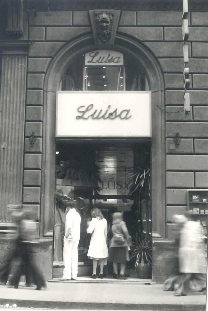 A vintage shot of LuisaViaRoma.