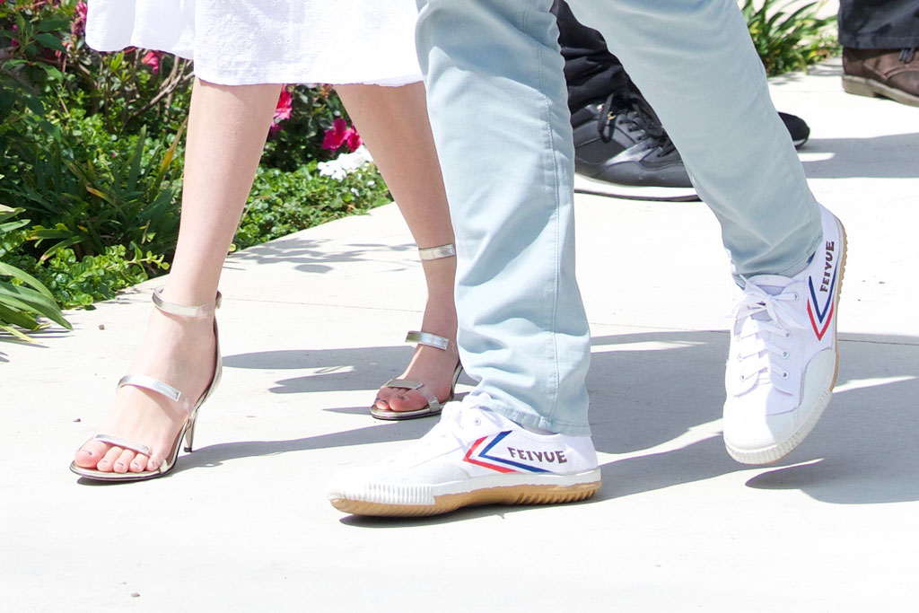 ben affleck, violet, daughter, jen garner, celebrity shoe style, feiyue sneakers, giuseppe zanotti harmony sandals