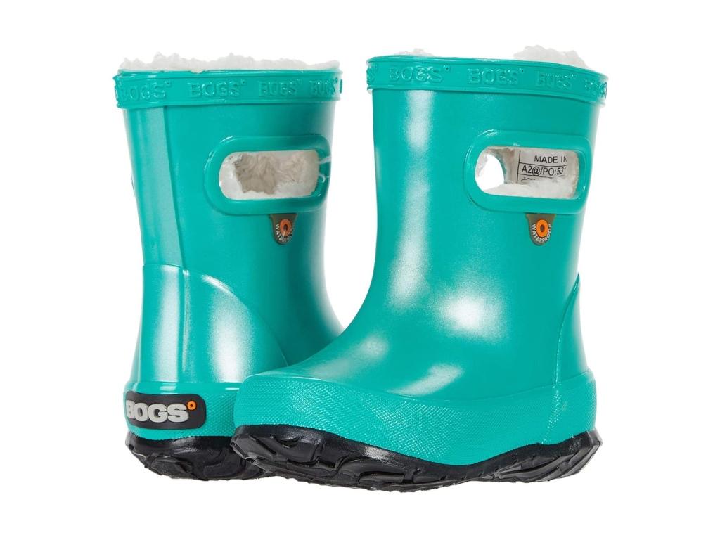 Bogs Skipper Metallic Plush Rain Boot, best kids rain boots