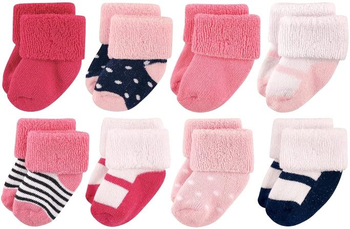 baby socks, luvable friends baby socks