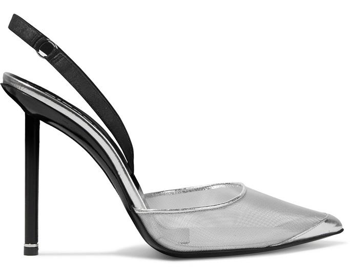 alexander wang alix pumps, mesh upper, bra strap, heels