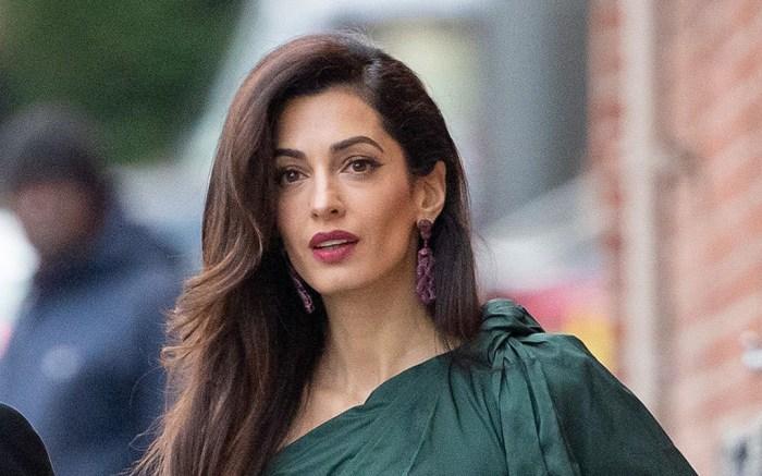 gianvito rossi plexi pumps, gold heels, toe cleavage, George Clooney and Amal Clooney, 'Jimmy Kimmel Live' TV Show, Los Angeles, USA - 07 May 2019Amal Wearing Oscar De La Renta