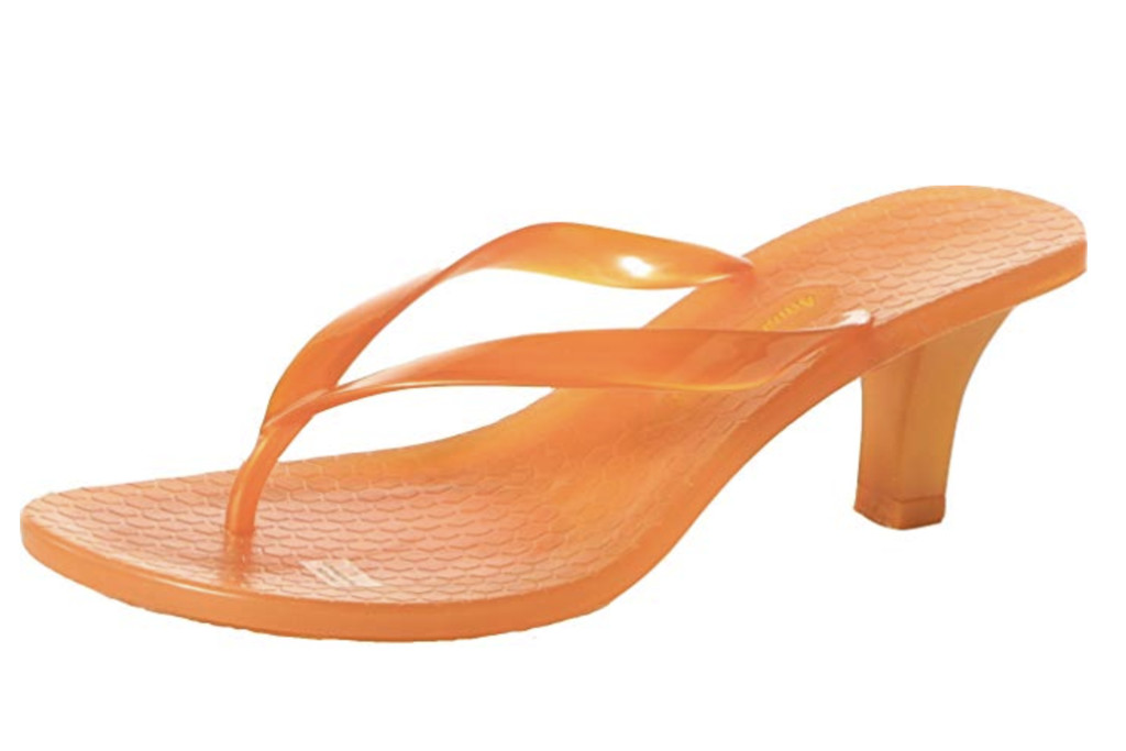 Aquarela Women's Summer Beach High Heel Jelly Flip Flops Sandals, flip flop heels, summer 2019 trends