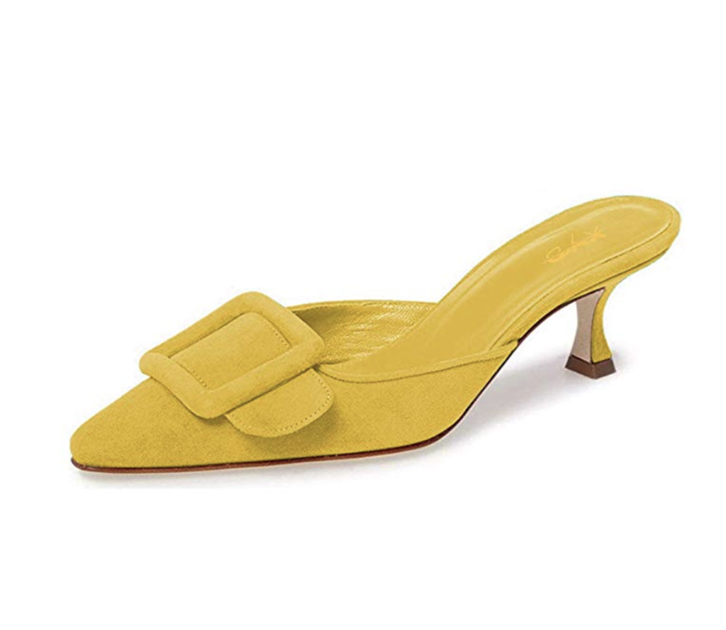 XYD Women Mule Pointy Toe Sandals, Mom mule, spring 2019 style
