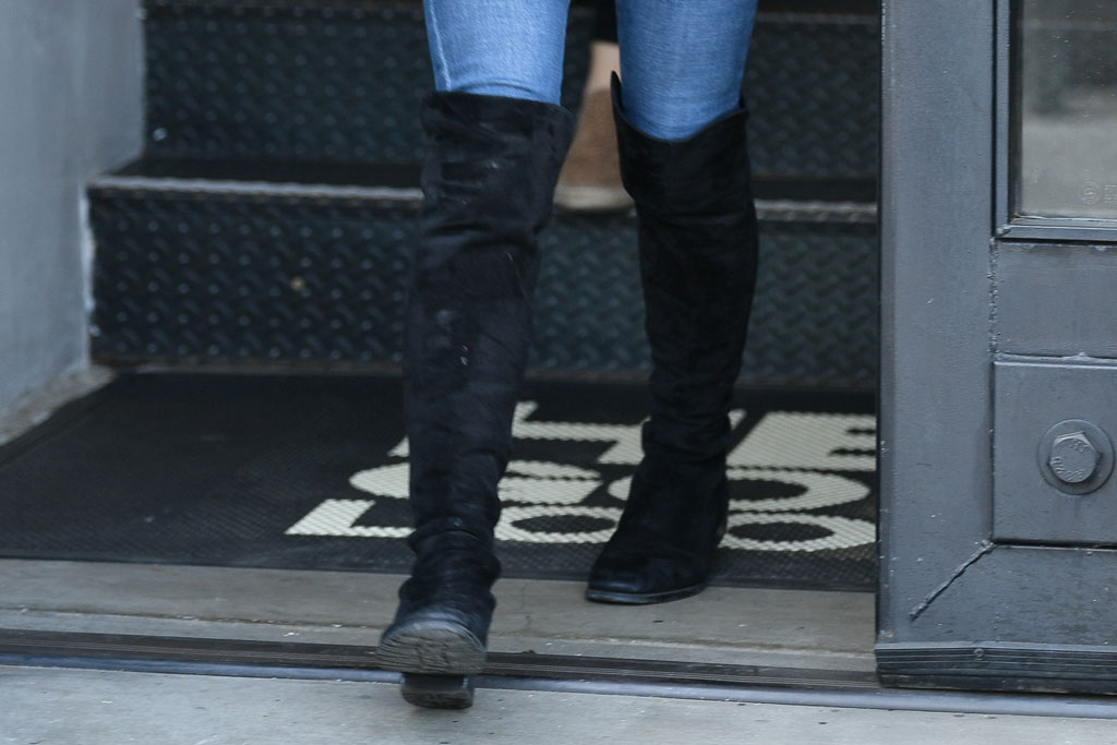 ariel winter, over-the-knee boots, suede boots