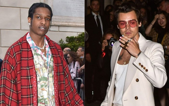A$AP Rocky and Harry Styles