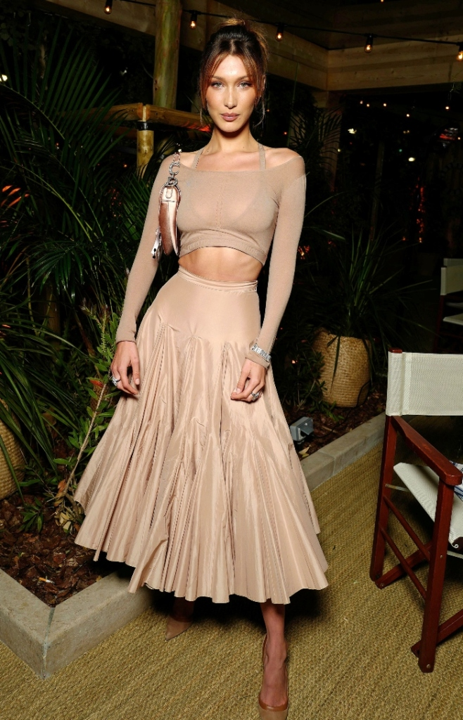 Dior x Vogue Dinner, dior dinner, cannes, cannes film festival, france, bella hadid, nude, sheer, abs, monochrome
