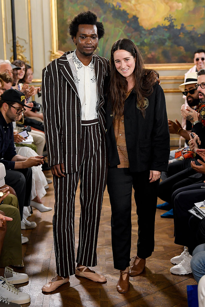 Emily Bode takes a bow at her runway debut, Paris Fashion Week, Men's.
