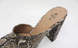 A snake-print mule from Call It