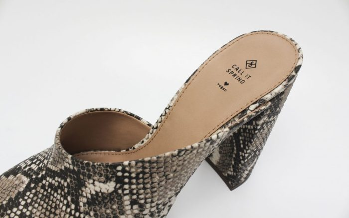 A snake-print mule from Call It Spring