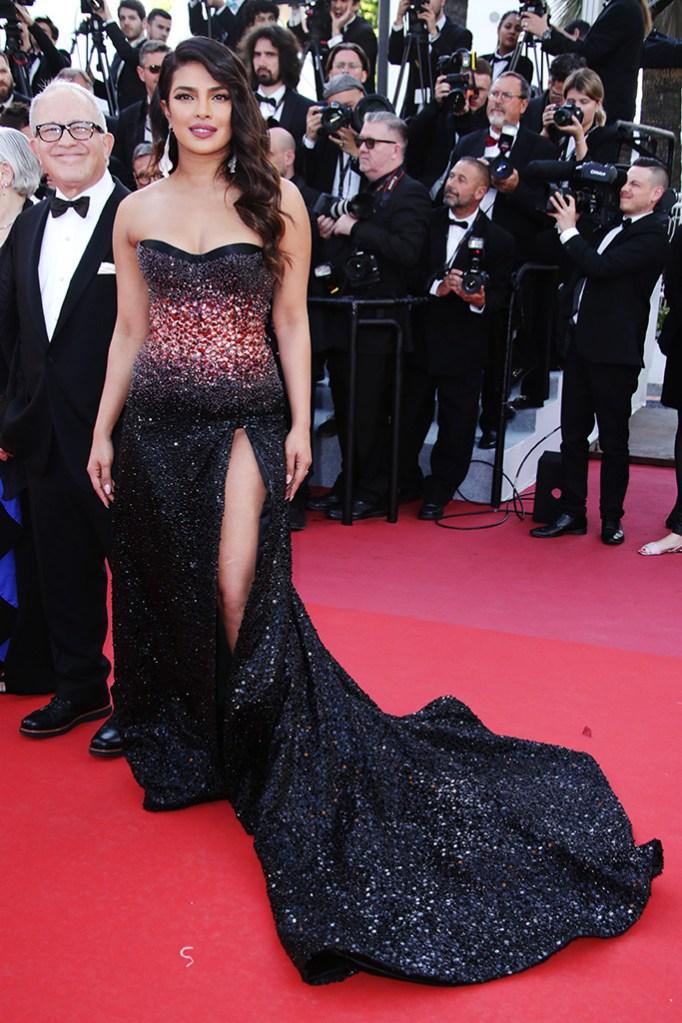 Priyanka Chopra attends '5B' screening'Rocketman' premiere, 72nd Cannes Film Festival, France - 16 May 2019 Wearing Roberto Cavalli dress