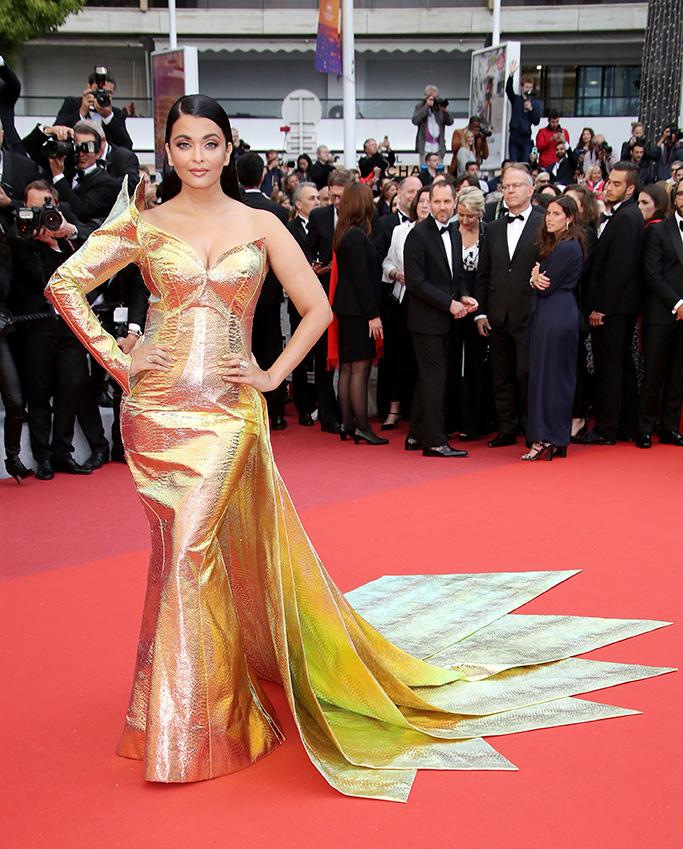 Aishwarya Rai Bachchan'A Hidden Life' premiere, 72nd Cannes Film Festival, France - 19 May 2019 Wearing Jean Louis Sabaji, Custom