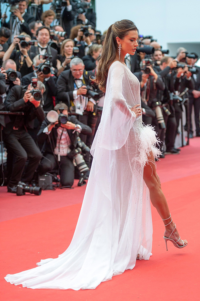 Alessandra Ambrosio'The Dead Don't Die' premiere and opening ceremony, 72nd Cannes Film Festival, France - 14 May 2019 Wearing Ralph and Russo same outfit as catwalk model *10068396t