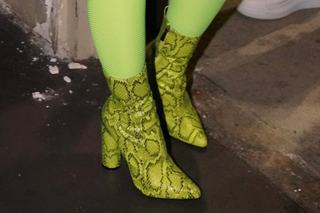 cardi b, snakeskin ankle boots, fashion nova, celebrity style, $40