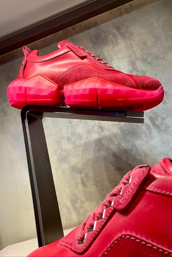 Jimmy Choo dipped Diamond sneakers, men's spring 2020.