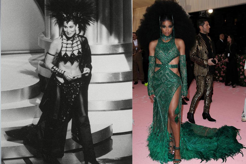 ciara, 2019 met gala, celebrity style, dundas, cher, 1987 oscars