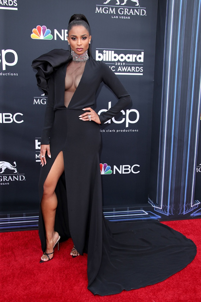 Ciara, black dress, legs, strappy sandals, cleavage, Billboard Music Awards, Arrivals, MGM Grand Garden Arena, Las Vegas, USA - 01 May 2019