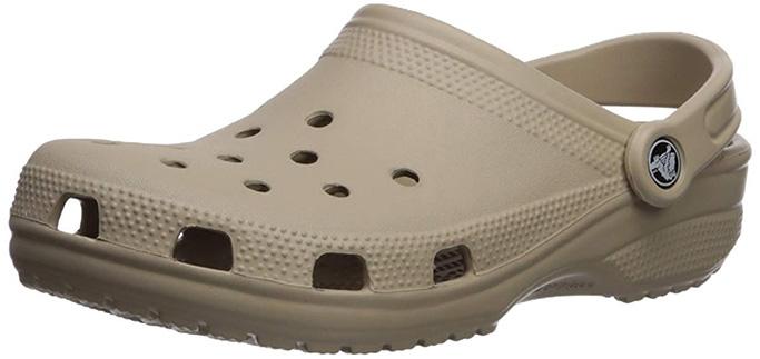 crocs beige clog shoes