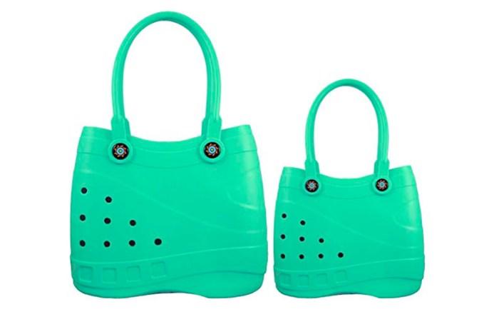 cros purse, crocs-like purse, optari sole totes, amazon