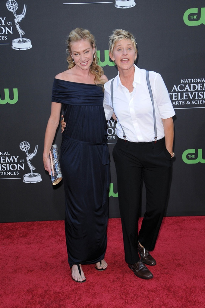 Portia de Rossi and Ellen DeGeneres36th Annual Daytime Emmy Awards, Orpheum Theatre, Los Angeles, America - 30 Aug 2009 Rachael Ray and Tyra Banks were awarded the top talk show prizes for their Food Network show and 'America's Top Model' respectively. Ray also won for best entertainment talk show and Banks was honoured with the gong for best informative talk show. Ellen DeGeneres was runner-up in the best talk show host category. Shows picking up numerous Emmys included 'All My Children', 'One Life To Live', 'The View', 'El Tigre', 'Sesame Street' and 'The Ellen DeGeneres Show'.