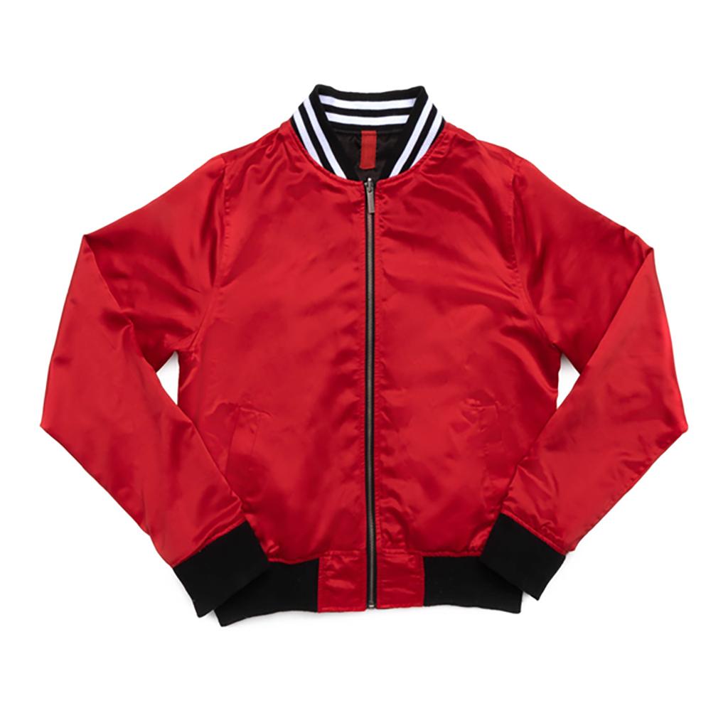 Del Toro Red Bomber Jacket